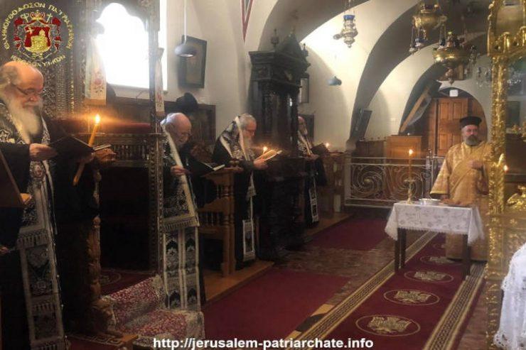 Μνημόσυνο Αγιοταφιτών πατέρων στο Πατριαρχείο Ιεροσολύμων