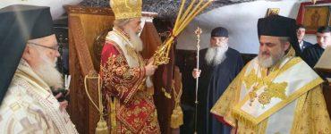 Ο Πατριάρχης Ιεροσολύμων στην Ιερά Μονή Αγίου Ονουφρίου