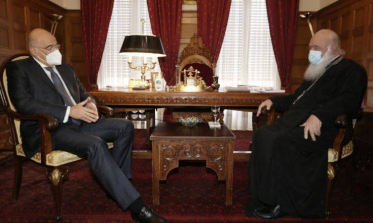 Συνάντηση Αρχιεπισκόπου με τον Υπουργό Εξωτερικών