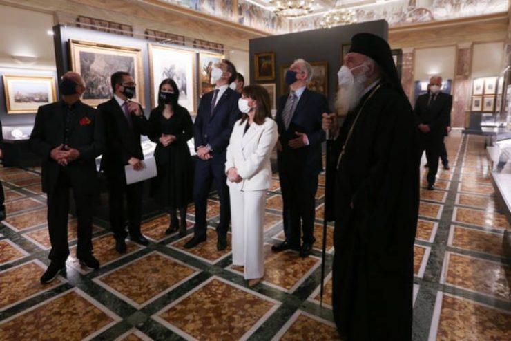 Ο Αρχιεπίσκοπος στα εγκαίνια επετειακής έκθεσης της Βουλής