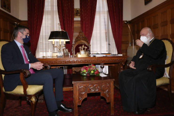 Ο Δήμαρχος Αθηναίων Κώστας Μπακογιάννης στον Αρχιεπίσκοπο