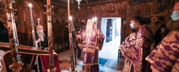 Τελευταία Προηγιασμένη στην Ιερά Μονή Αγίων Πάντων Βεργίνης (ΦΩΤΟ)