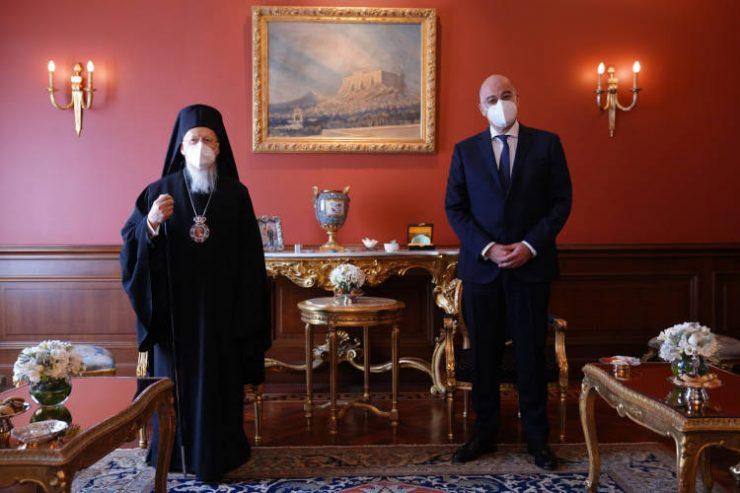 Συνάντηση του Οικουμενικού Πατριάρχου με τον ΥΠΕΞ της Ελλάδος