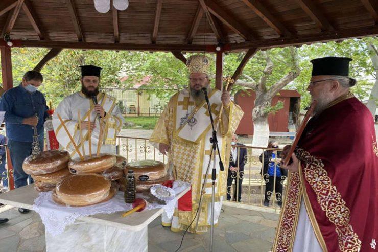 Εορτή Αγίων Ραφαήλ, Νικολάου και Ειρήνης στη Μητρόπολη Λαρίσης