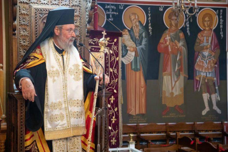 Ο Αρχιεπίσκοπος Κύπρου στον πανηγυρίζοντα Ιερό Ναό Αγίων Πάντων στη Μακεδονίτισσα Λευκωσίας