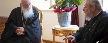 Άφιξη του Αρχιεπίσκοπου Αθηνών στην Αρχιεπισκοπή Κύπρου