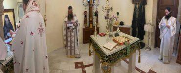 Θείες Λειτουργίες και Ιερές Παρακλήσεις τελούνται αδιάλειπτα στον Όσιο Νικηφόρο τον Λεπρό