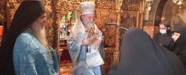 Ρασοφορία μοναχής στην Ιερά Μονή Αγίου Βλασίου Τρικάλων