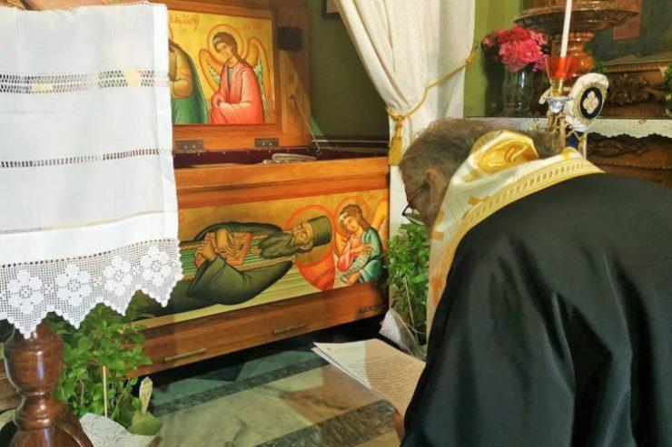 Παράκληση στον Άγιο Σάββα της Καλύμνου για τους υποψηφίους των Πανελληνίων