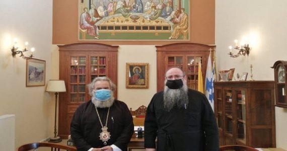 Ο Έξαρχος του Παναγίου Τάφου στον Μητροπολίτη Μάνης
