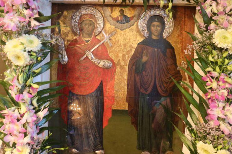 Πανηγυρικός Εσπερινός στην Ιερά Μονής Αγίας Ειρήνης Άνδρου