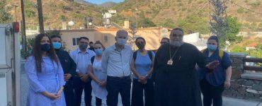 Ο Μητροπολίτης Ταμασού στα πυρόπληκτα χωριά της Ορεινής