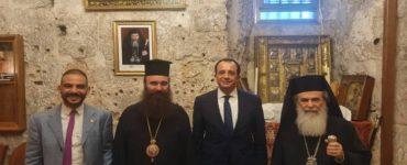 Ο Υπουργός Εξωτερικών της Κύπρου επισκέπτεται τον Ναό της Αναστάσεως