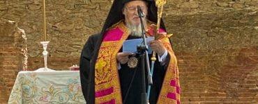 Αρχιερατική Θεία Λειτουργία στα ερείπια της Ιεράς Μονής Φανερωμένης Κυζίκου