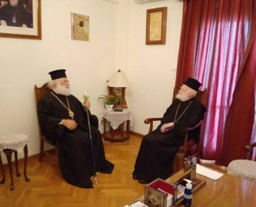 Ο Πατριάρχης Αλεξανδρείας Θεόδωρος στον Αρχιεπίσκοπο Κρήτης