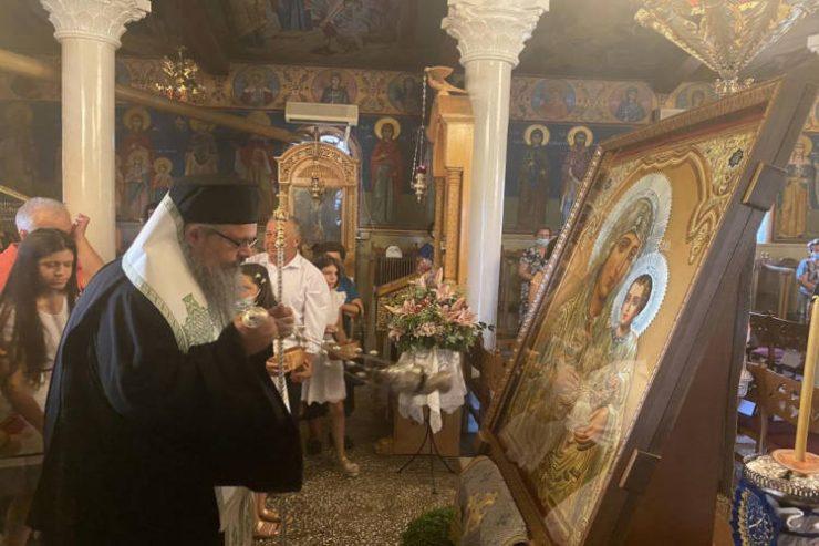 Υποδοχή Αντιγράφου Παναγίας Ιεροσολυμίτισσας στη Μητρόπολη Λαρίσης