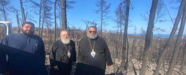 Περιοδεία Μητροπολίτη Ταμασού στις πυρόπληκτες περιοχές της Εύβοιας
