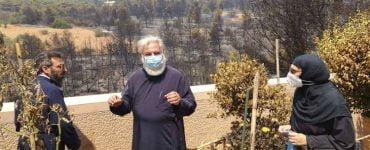 Ο Ιλίου Αθηναγόρας στις πυρόπληκτες περιοχές της Μητροπόλεως