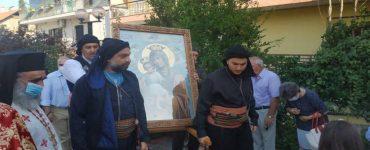 Υποδοχή Ιεράς Εικόνος Παναγίας «Άξιον εστί» στην Ηλιούπολη Θεσσαλονίκης