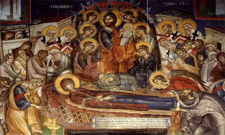 Προεόρτια Αγρυπνία Κοιμήσεως της Θεοτόκου στη Λάρισα Πανήγυρις Κοιμήσεως Θεοτόκου Αχαρνών
