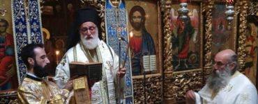 Θεία Λειτουργία στη Μονή Κλεισούρας και Τρισάγιο στο μακαριστό Μητροπολίτη Καστορίας κυρό Σεραφείμ.