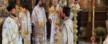 Ο Αρχιεπίσκοπος Αμερικής στην Ιερά Μονή Αγίας Τριάδος των Τζαγκαρόλων