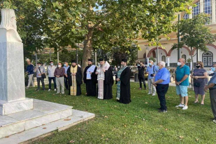 Τελετή μνήμης για τον Εθνομάρτυρα Μητροπολίτη Λαρίσης Πολύκαρπο Δαρδαίο