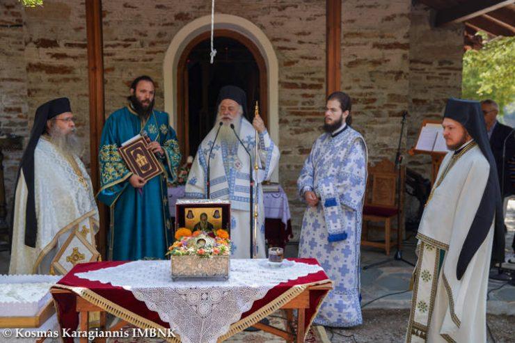 Η τιμία κάρα του Οσίου Δαβίδ από την Εύβοια στα Πιέρια Όρη
