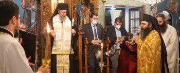 Ο Αρχιεπίσκοπος Κύπρου στον πανηγυρίζοντα Απόστολο Λουκά Στροβόλου