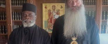 Ο Μητροπολίτης Μουάνζα Ιερώνυμος στον Φθιώτιδος Συμεών