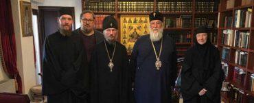 Επίσκεψη του Μητροπολίτη Μινσκ Βενιαμίν στον Μητροπολίτη Κερκύρας