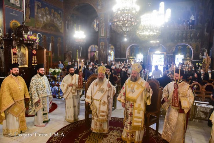 Πρώτη Αρχιερατική Θεία Λειτουργία Μητροπολίτου Λαγκαδά Πλάτωνος