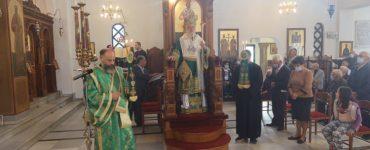 Αρχιερατική Θεία Λειτουργία στο Εμπορειό της Θήρας