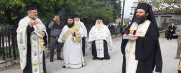 Υποδοχή Ιερού Λειψάνου Αγίου Δημητρίου στη Φιλύρα Τρικάλων