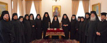 Ολοκληρώθηκαν οι εργασίες της Αγίας και Ιεράς Συνόδου για τον μήνα Οκτώβριο